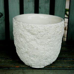 White Sponge Vase