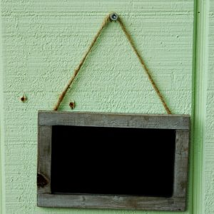 Grey Wooden Chalkboard