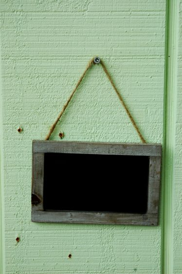 Grey Wooden Chalkboard